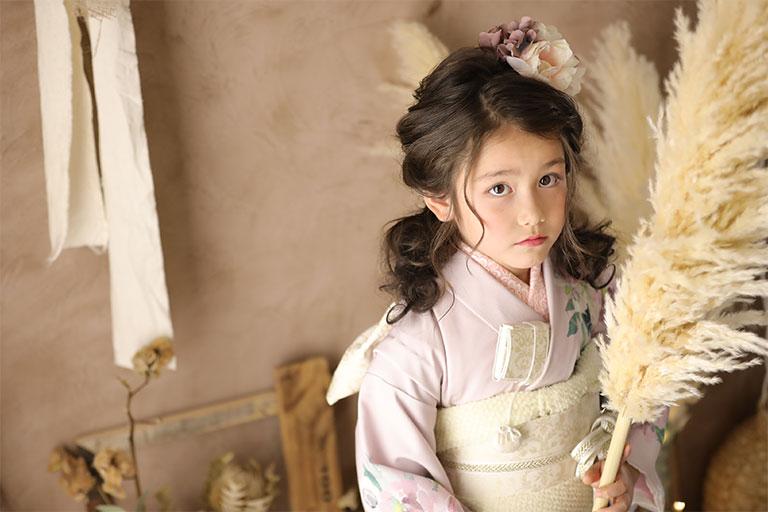 着物を着た女の子の写真